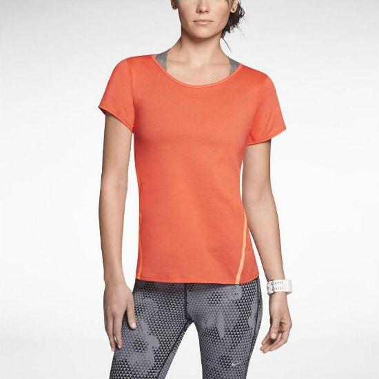 Nike Tailwind Loose Short-Sleeve Running Shirt resmi